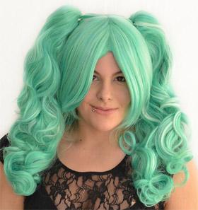 Gothic Lolipocalypse Mint Julep - seafoam lolita wig