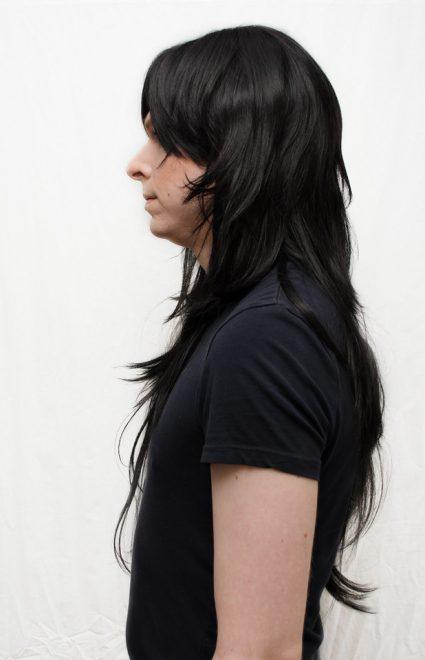 Jade Harley wig side view
