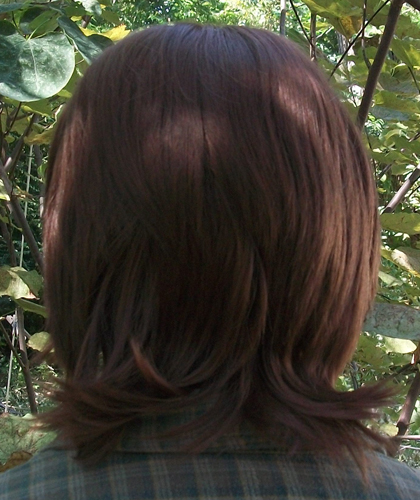 Sam Winchester cosplay wig back view