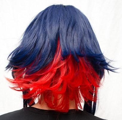 Ryuko Senketsu cosplay wig back view