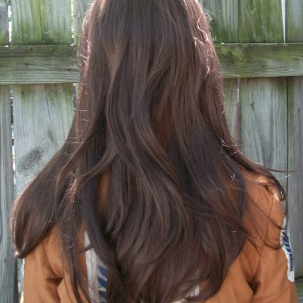 Ymir cosplay wig back view