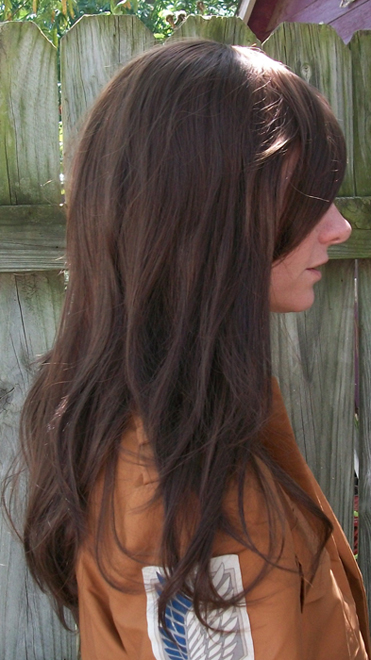 Ymir cosplay wig side view