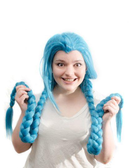 Jinx cosplay wig