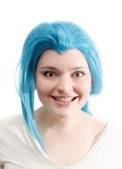 Jinx cosplay wig close up