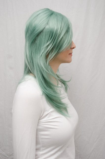 Rydia cosplay wig side view