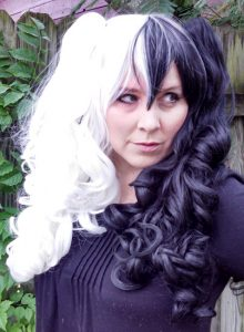 black and white split Gothic Lolipocalypse cosplay wig