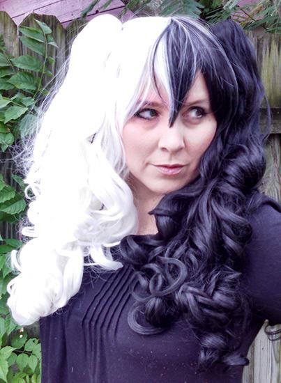 black and white split Gothic Lolipocalypse cosplay wig