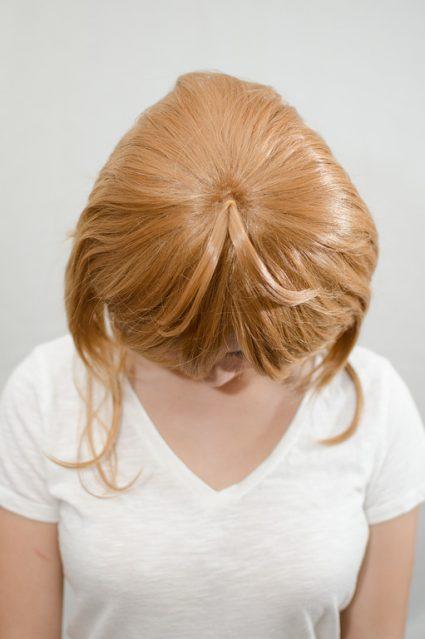 Sakura wig top view