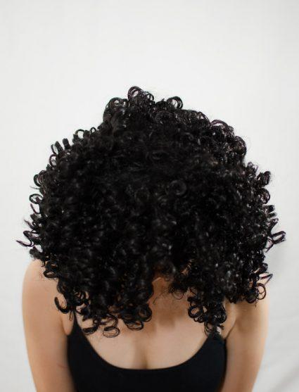 Garnet wig top view