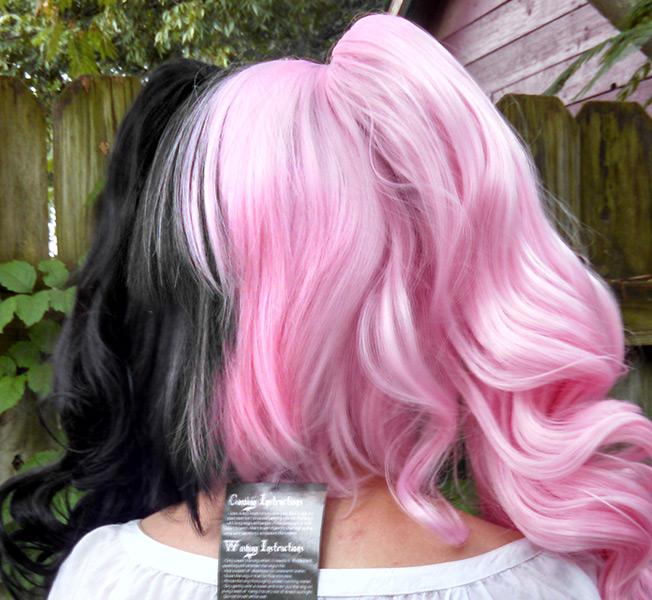 Black And Pink Split Wig 62