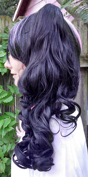 Black And Pink Split Wig 66
