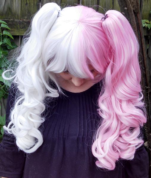 Black And Pink Split Wig 108
