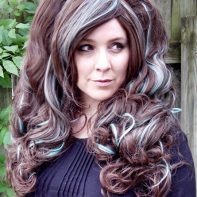 brown and mint gothic lolipocalypse cosplay wig