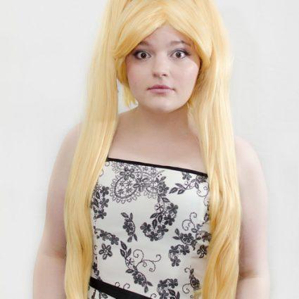 blonde ponytail cosplay wig