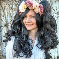 dark gray gothic loli wig