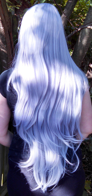 Amethyst wig back view