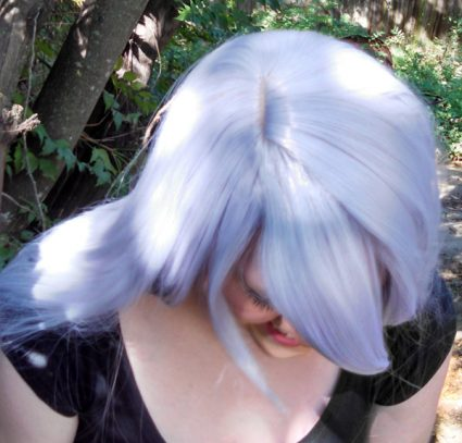 Amethyst wig top view