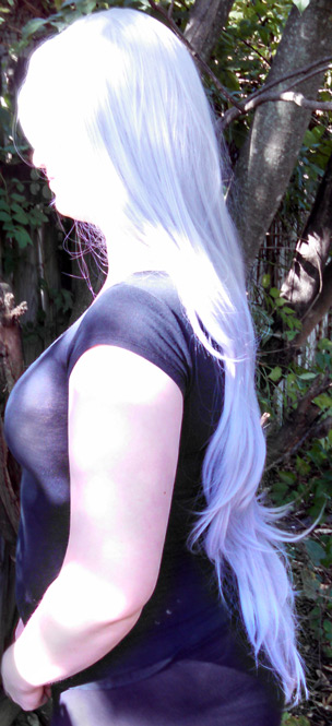 Amethyst wig side view