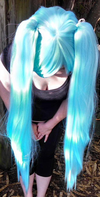 Nymph wig top view
