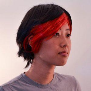 Crow cosplay wig
