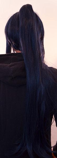 Kanda wig back view