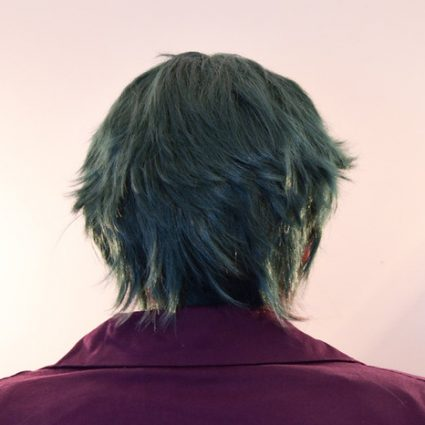 Joker wig back view