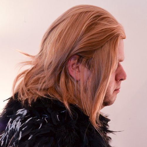 Anders cosplay wig side view