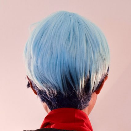 Neptune cosplay wig back view