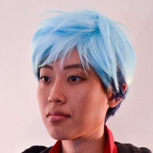 Neptune cosplay wig