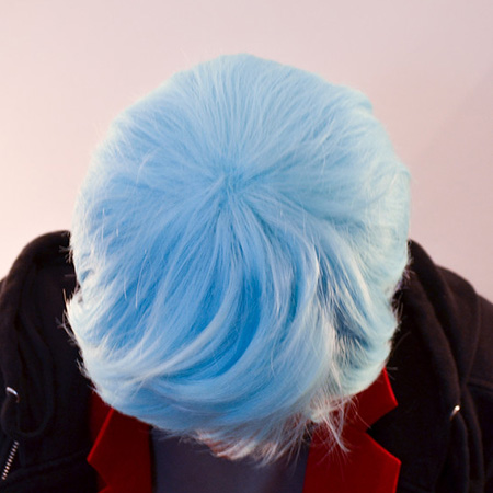 Neptune cosplay wig top view