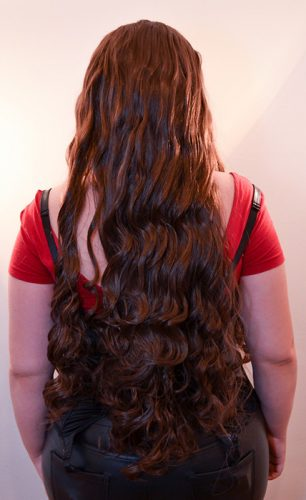 Scarlet Witch cosplay wig back view