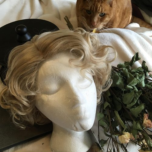 Queenie wig and friend