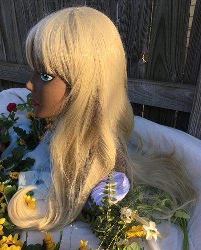 Lillie cosplay wig side view