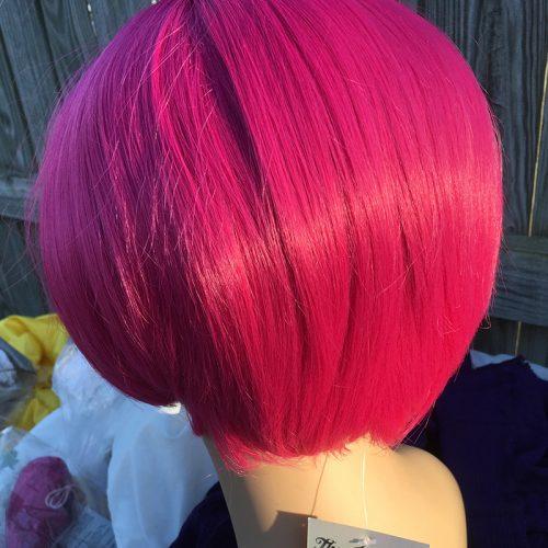 Plumeria wig back view