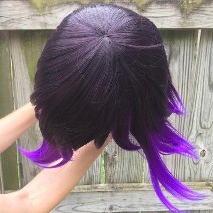 Kokichi cosplay wig top view