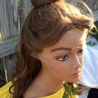Belle cosplay wig