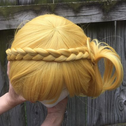 Mari cosplay wig top view
