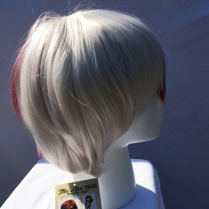 Todoroki cosplay wig white side view