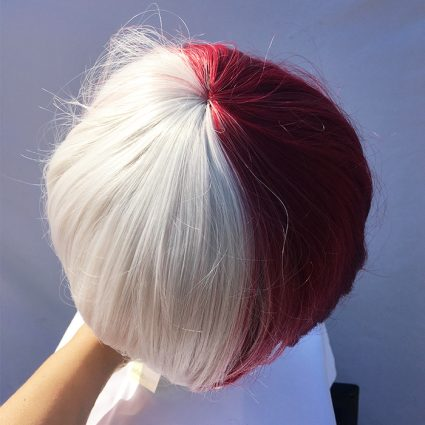 Todoroki cosplay wig top view