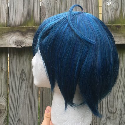 Saihara cosplay wig side view