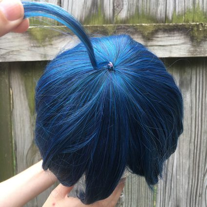 Saihara cosplay wig top view