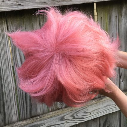Mina cosplay wig top view