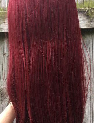 Sakurauchi cosplay wig back view