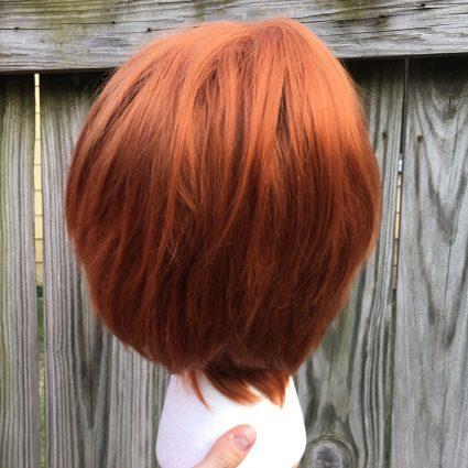 Weasley cosplay wig back view
