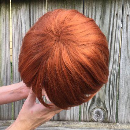 Weasley cosplay wig top view