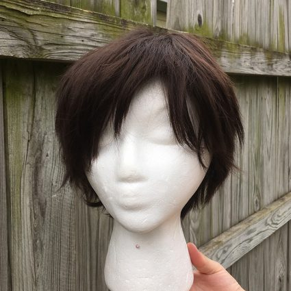 Dark brown cosplay wig