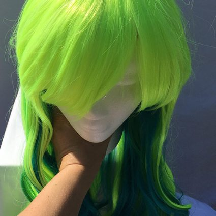 Lucoa cosplay wig top view