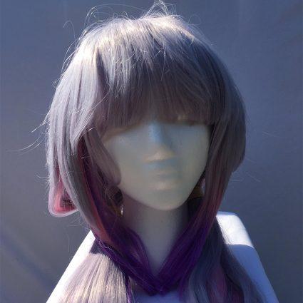 Kanna cosplay wig close-up view