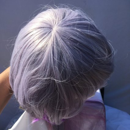Kanna cosplay wig top view