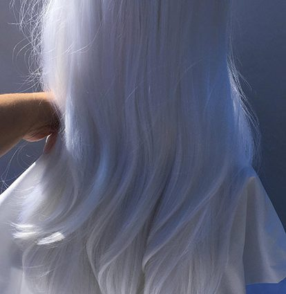 Lotor cosplay wig back view